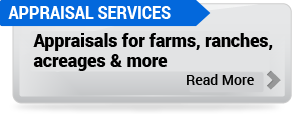 Appraisals for farms, ranches, acreages and more